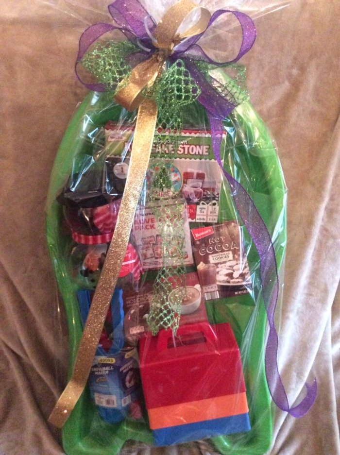 winter fun basket
